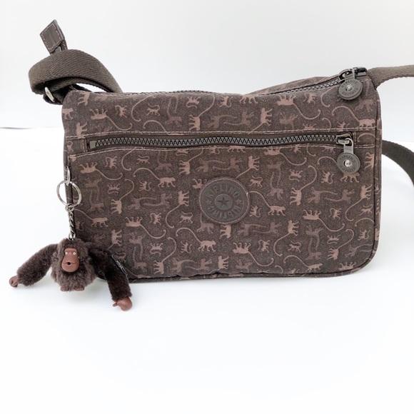exquisite craftsmanship top style super popular Kipling Brown Callie Monkey Mania Crossbody Purse